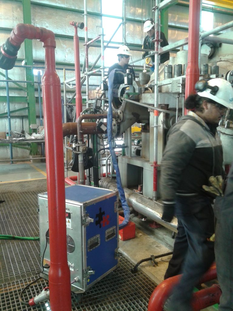 Field Service Bolt Induction Heating