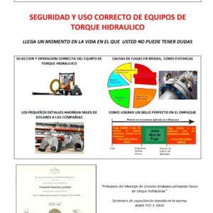 Capacitacion bridado industrial - Uso seguro de las herramientas de torque hidraulico