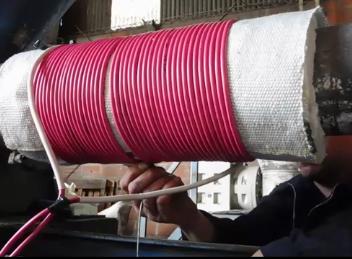 SISTEMA MISURA PARA AHORRO DE ENERGÍA ELÉCTRICA EN LA INDUSTRIA PLÁSTICA - Instalación de la bobina